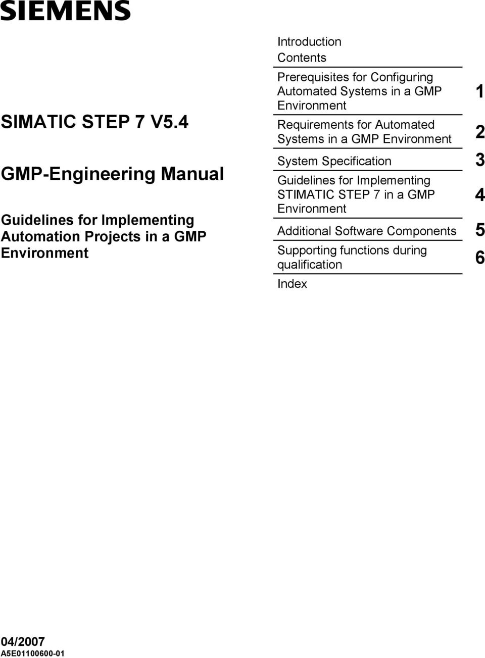 simatic step 7 v5 4 gmp engineering manual guidelines for rh docplayer net
