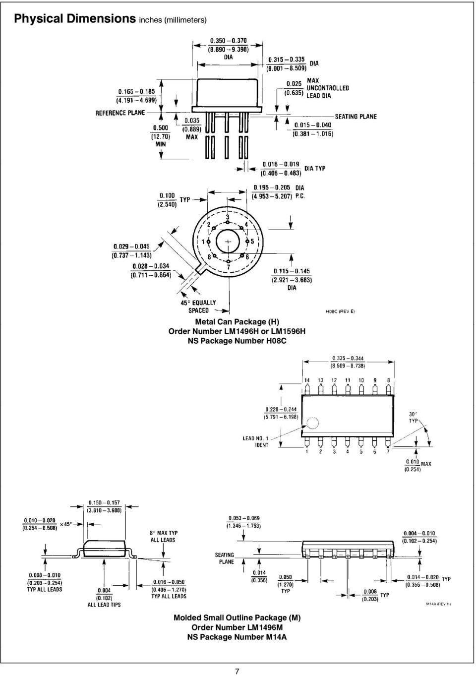 Lm1596 Lm1496 Balanced Modulator Demodulator Pdf Lm555 Lm555c Timer Circuits Ns Package Number H08c Molded Small Outline
