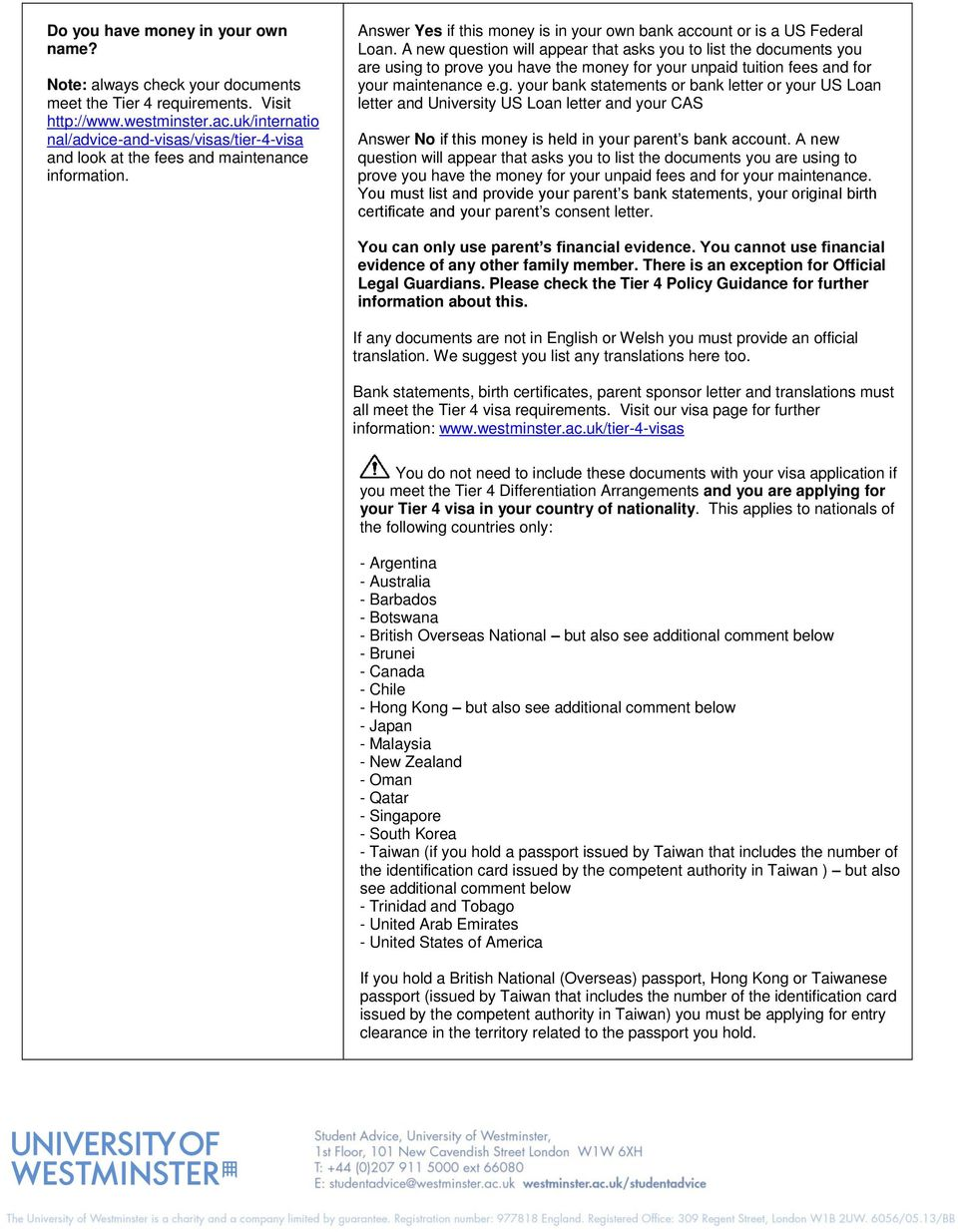 Applying for a Tier 4 Visa outside of the UK - PDF