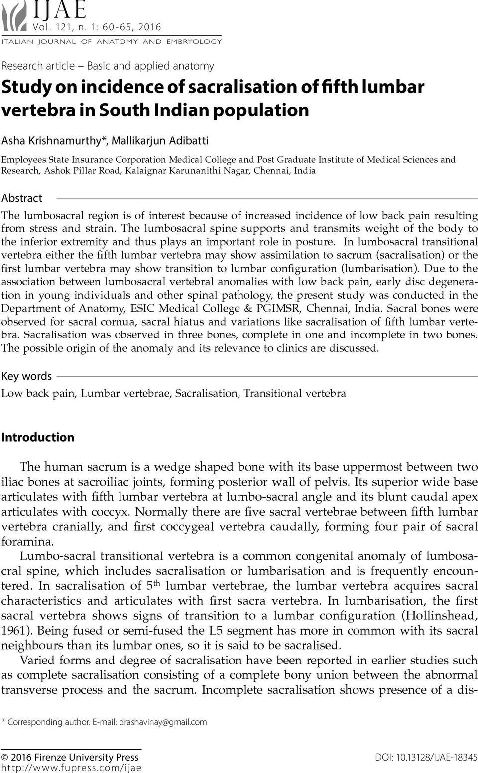 Research Article Basic And Applied Anatomy Study On Incidence Of