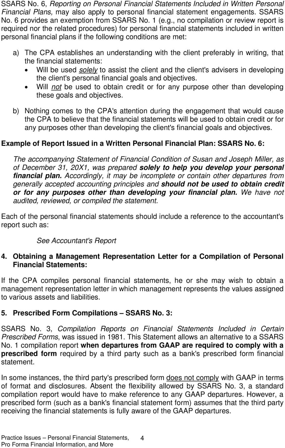pro forma financial statements are used for padd financial