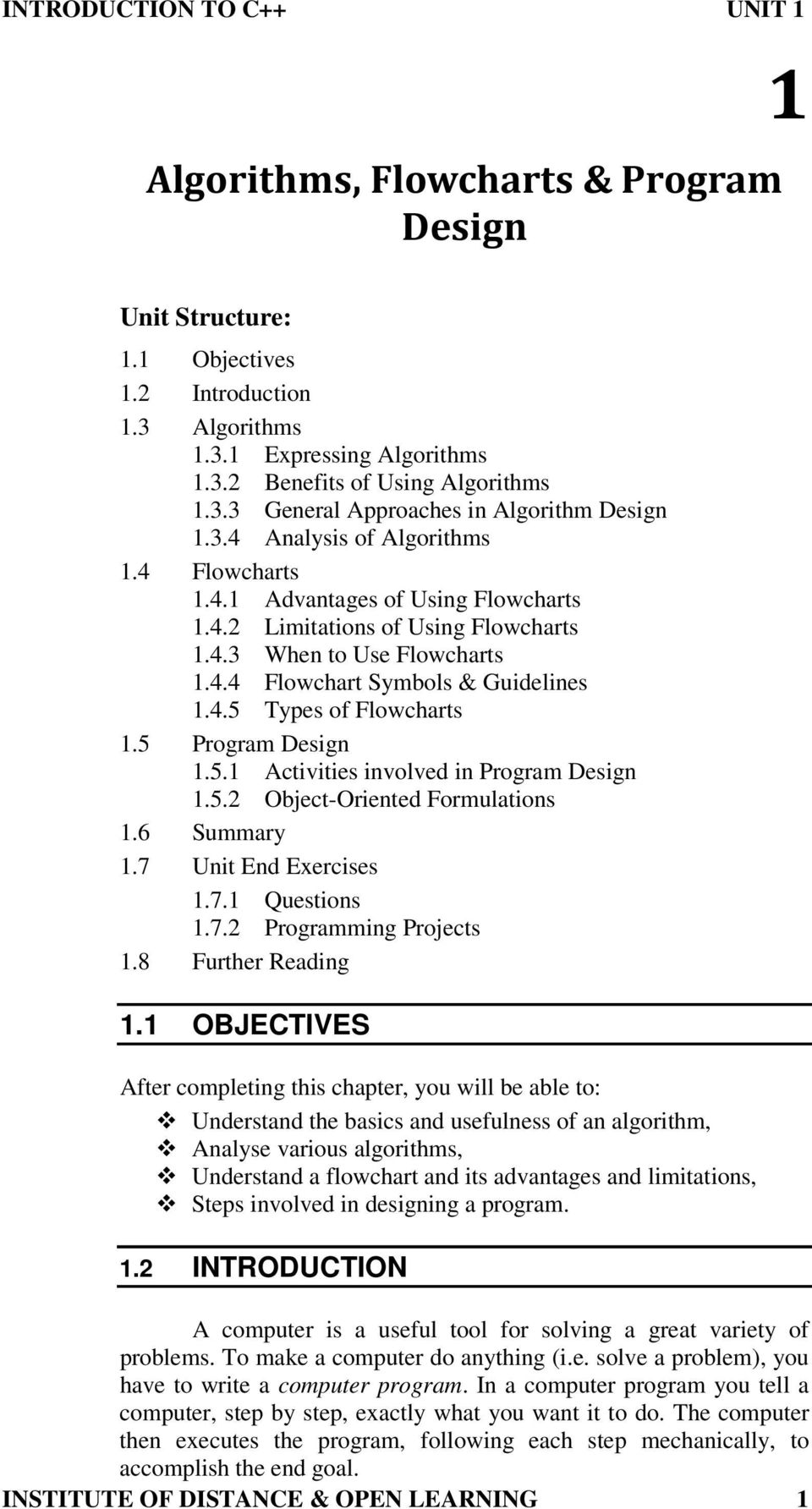 Algorithms, Flowcharts & Program Design - PDF