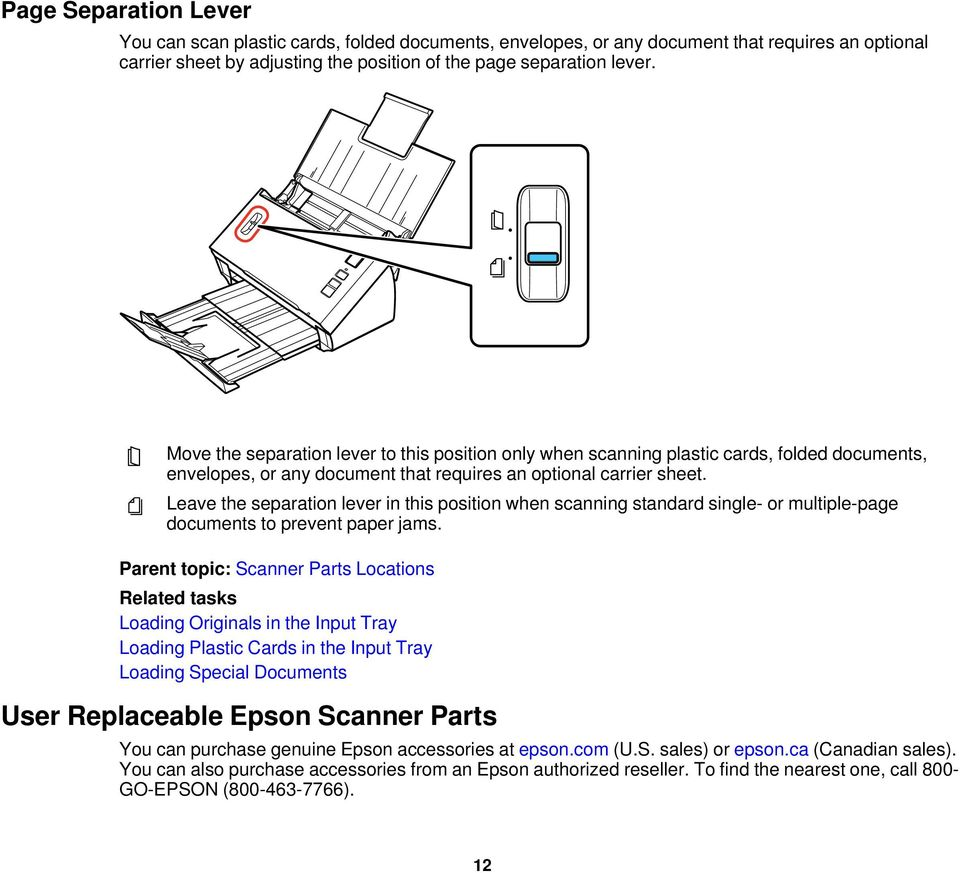 Contents DS-520 User's Guide    7 Scanner Basics    8 Placing