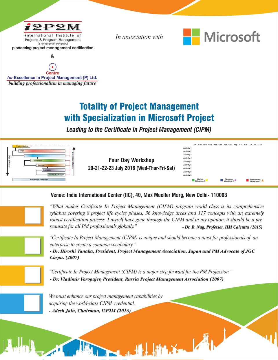 Totality of Project Management with Specialization in