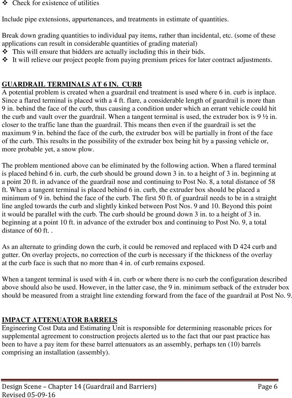 CHAPTER 14: GUARDRAIL and BARRIERS - PDF