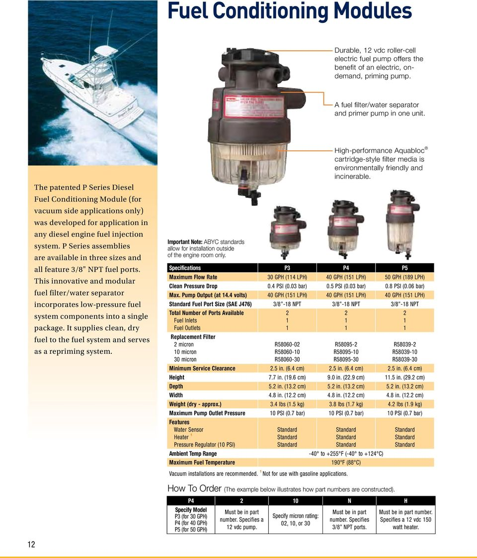 Marine Filtration Systems Pdf Griffin Fuel Filters P Series Assemblies Are Available In Three Sizes And All Feature 3 8 Npt