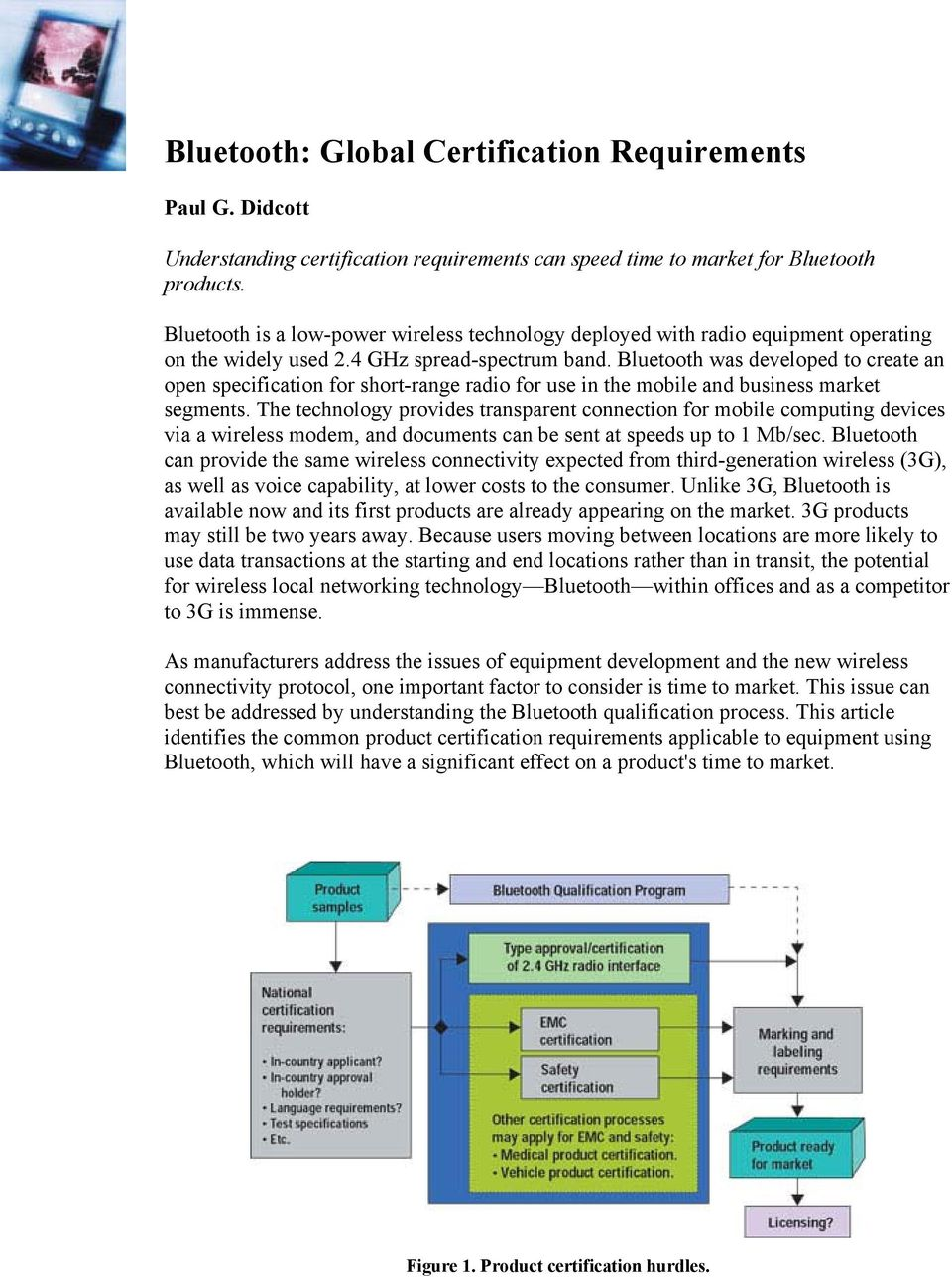 Bluetooth: Global Certification Requirements - PDF
