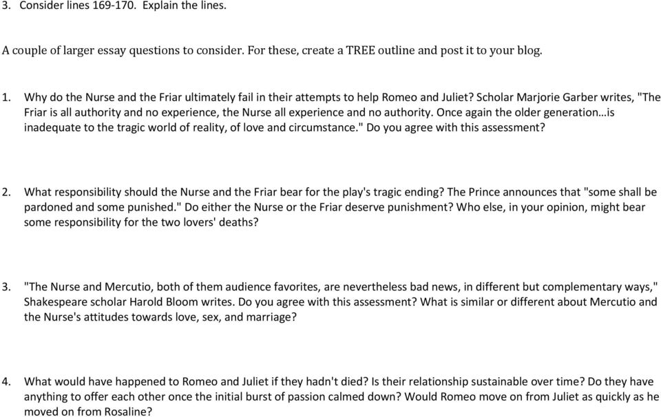 ROMEO AND JULIET Study Questions - PDF
