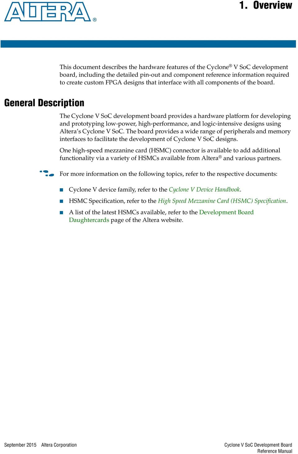Cyclone V Hps Technical Reference Manual