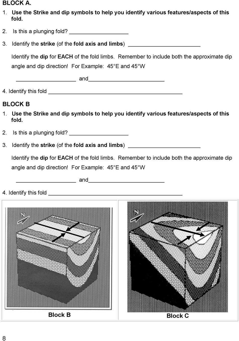 Location And Distance On Earth Chapter 22 Part 1 Pdf Geologic Block Diagram Youngest To Oldest Identify This Fold B