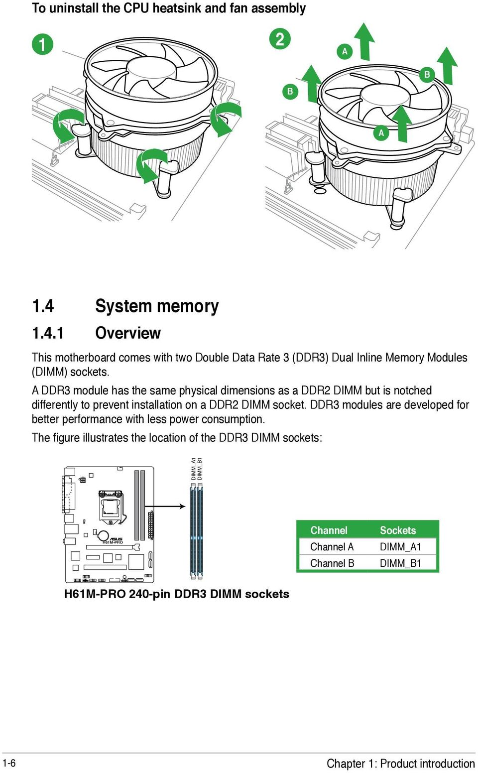H61m Pro Motherboard Pdf Compaq Hp Oem P4sd Front Panel Wiring Diagram A Ddr3 Module Has The Same Physical Dimensions As Ddr2 Dimm But Is Notched Differently