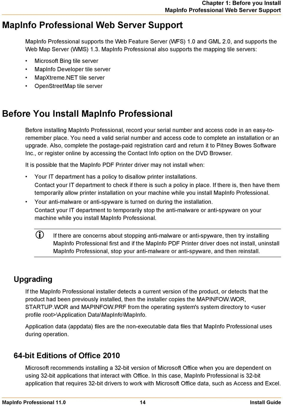 mapinfo serial number access code
