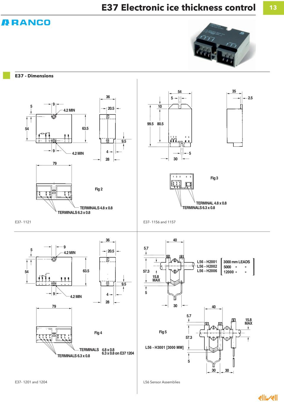 Product Catalogue 2012 13 Electromechanical Controllers Pdf K59 Thermostat Wiring Diagram 2 Min 205 57 54 4 5 1 3 6 7 635 95 573 158