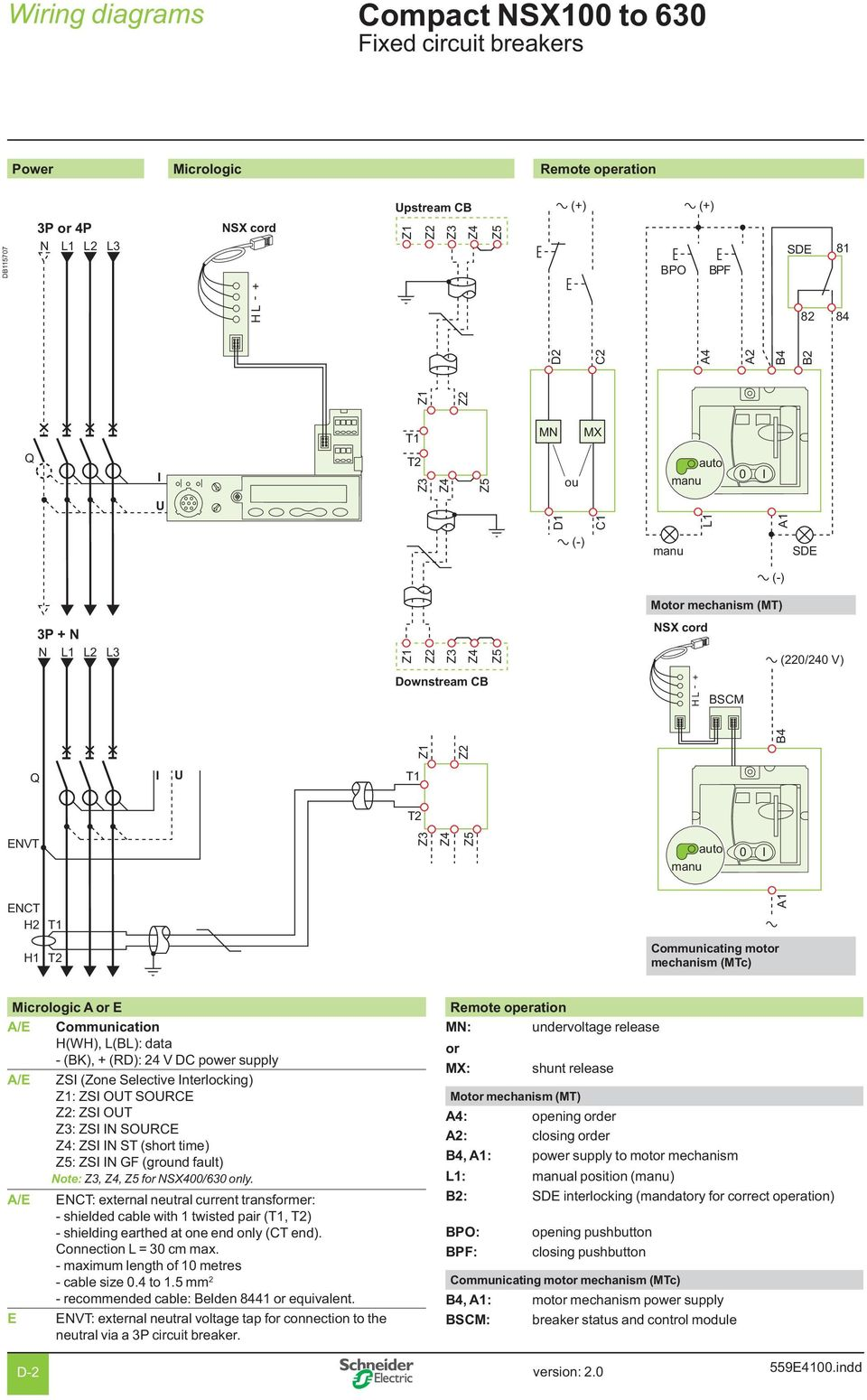 Wiring Diagrams Compact Nsx Contents Pdf 220 Schematic Wire Diagram A E Zs Zone Selective Nterlocking Out Source