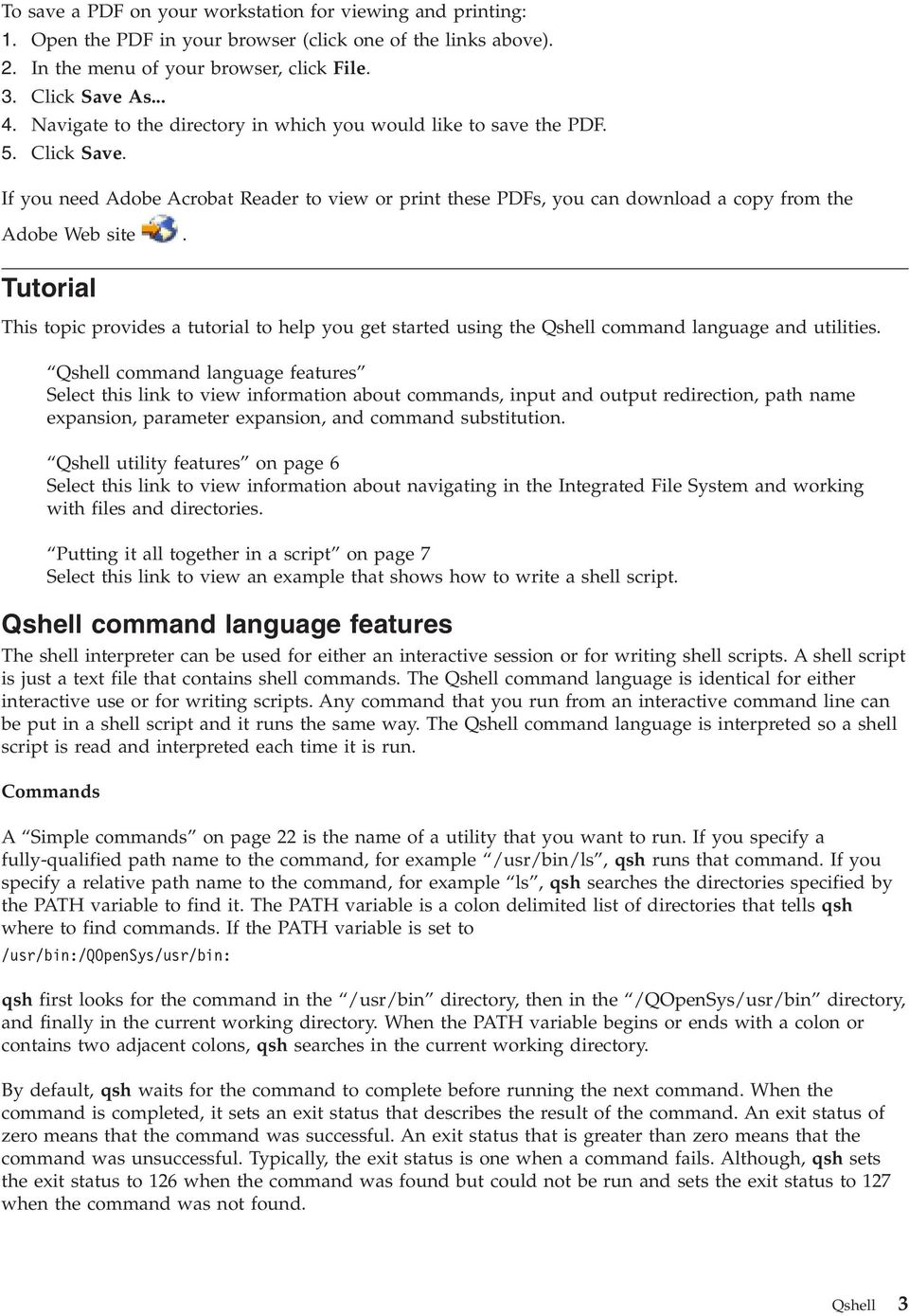 iseries Qshell Version 5 Release 4 - PDF