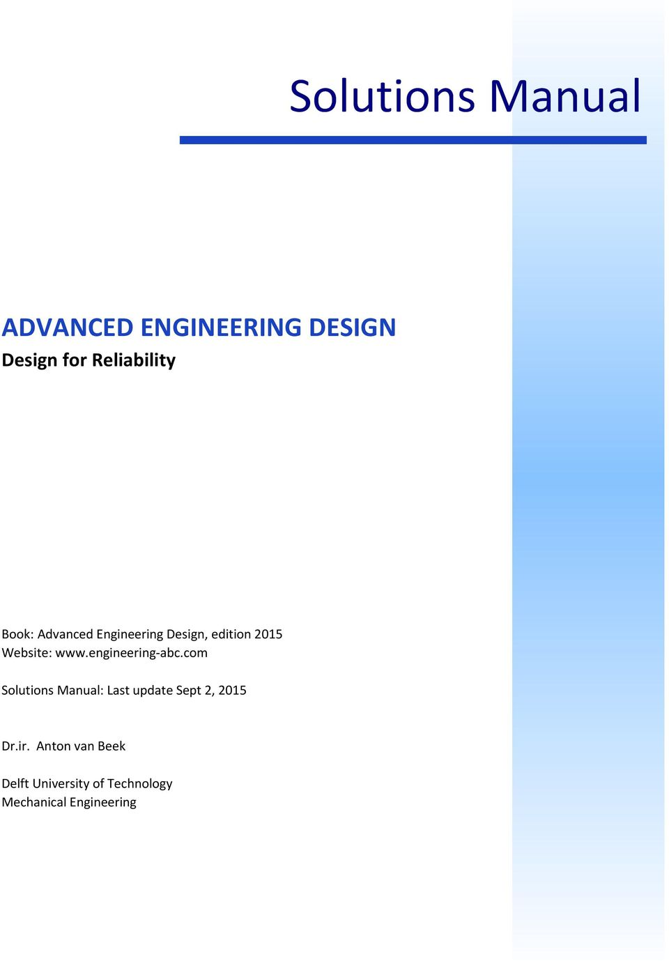 Advanced Engineering Design Pdf Free Download