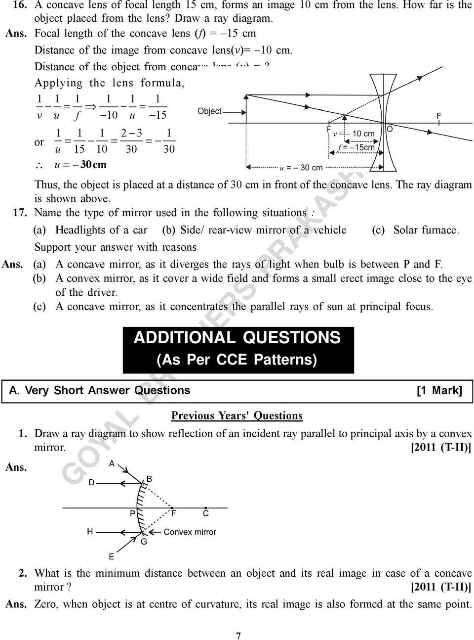 LIGHT REFLECTION AND REFRACTION - PDF