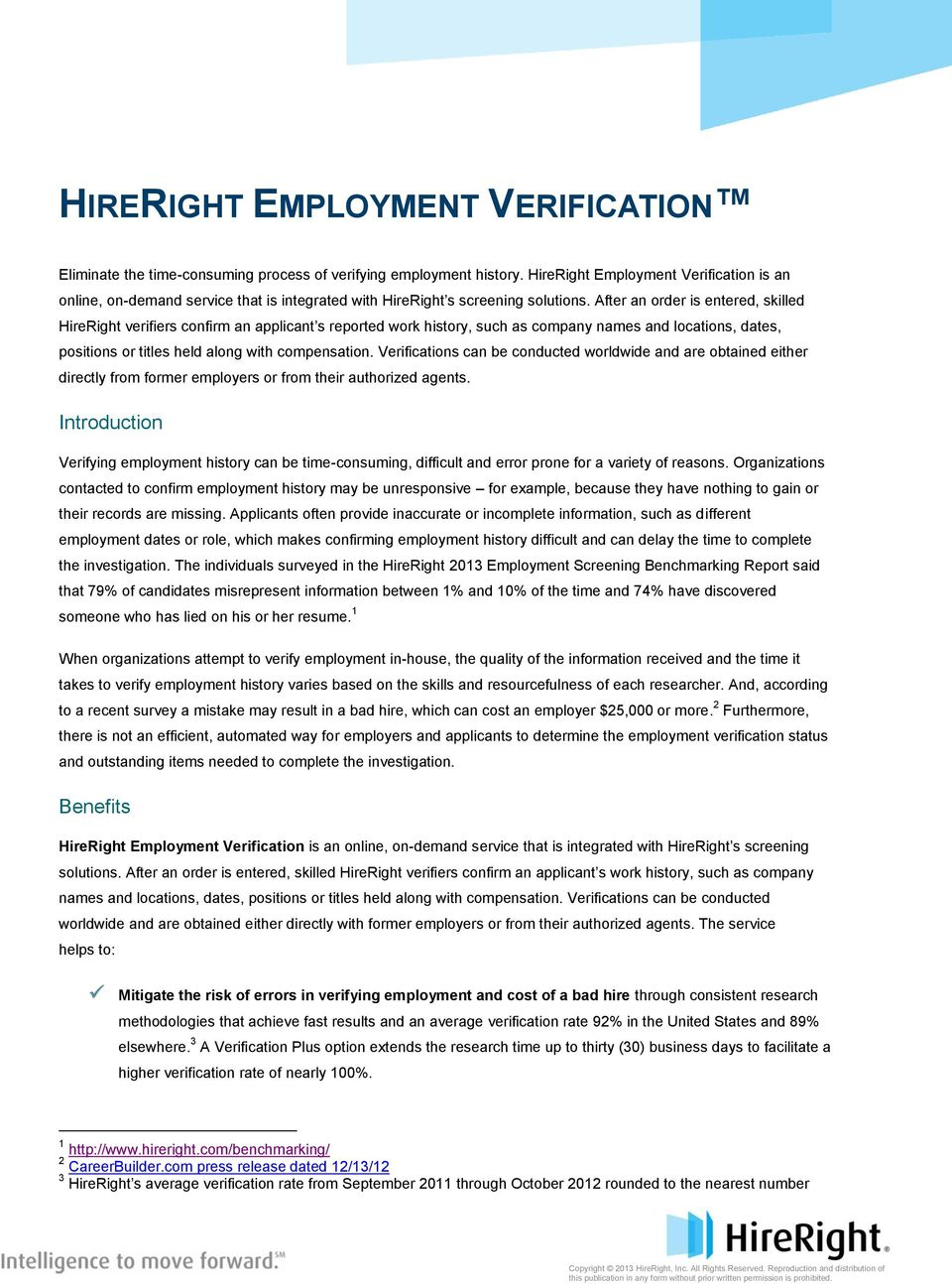 HIRERIGHT EMPLOYMENT VERIFICATION - PDF