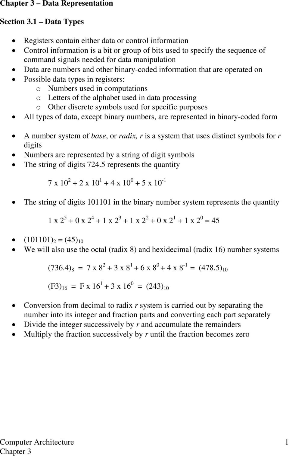 The String Of Digits In Binary Number System Represents Coded Decimal Converter Negative Logic Numbers And Other Information That Are Operated On Possible Data Types Registers