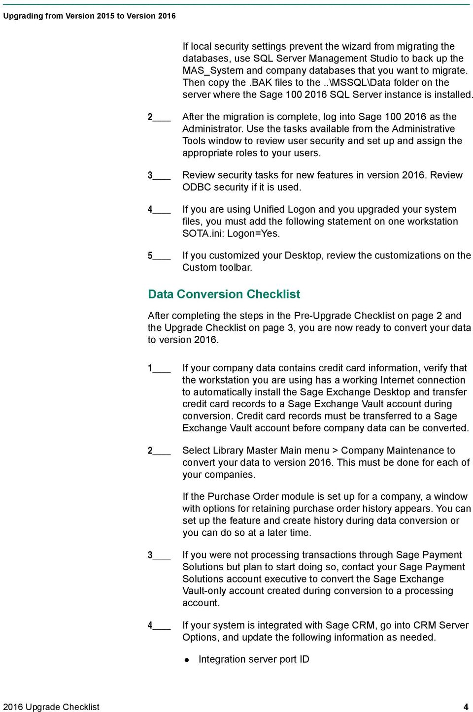 2016 Upgrade Checklist - PDF