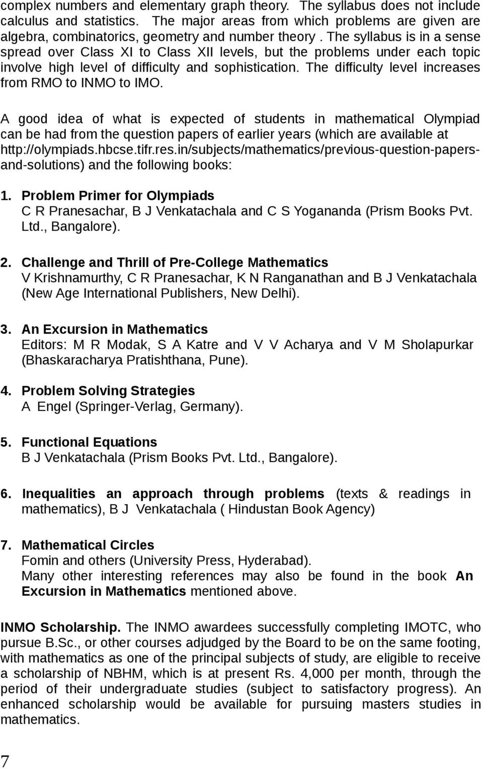 Mathematical Olympiad Books