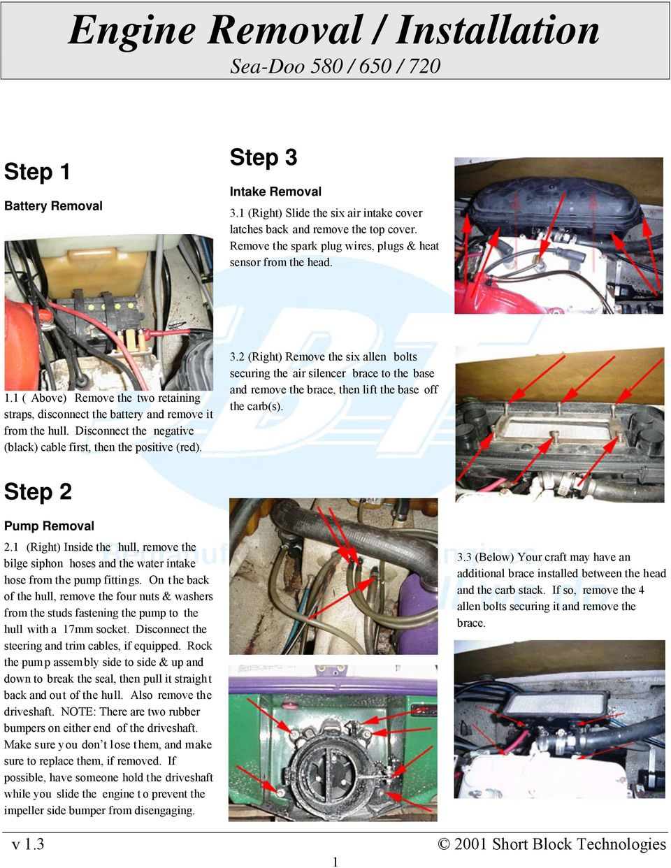 Engine Removal / Installation Sea-Doo 580 / 650 / PDF