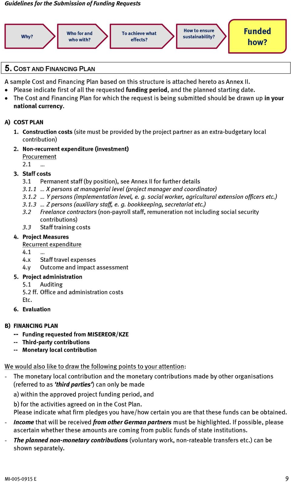 guidelines for the submission of funding requests pdf