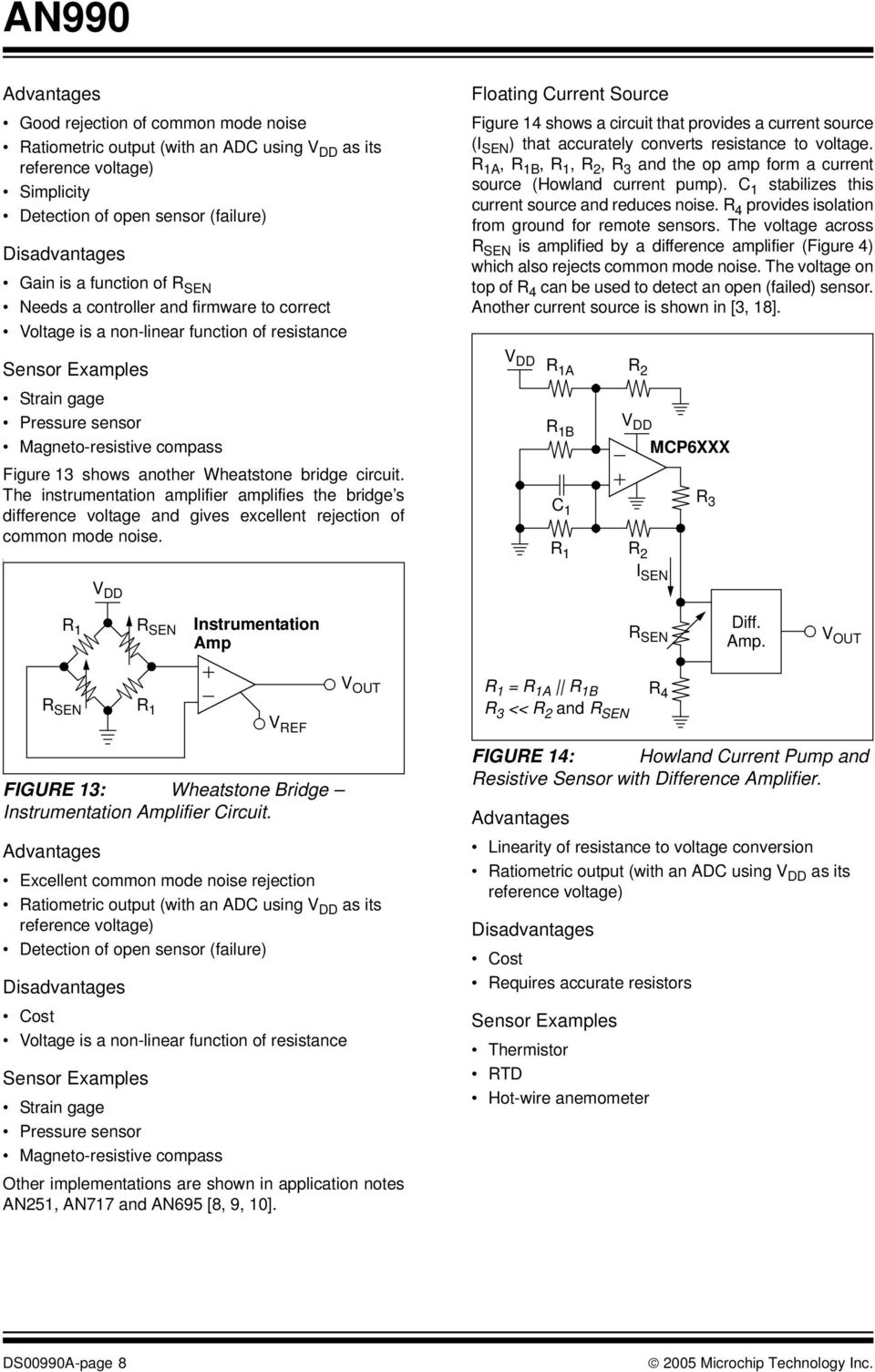 An990 Analog Sensor Conditioning Circuits An Overview Introduction In The Opamp Circuit Of Howland Current Source Noninverting A B R 3 And Op Amp Form