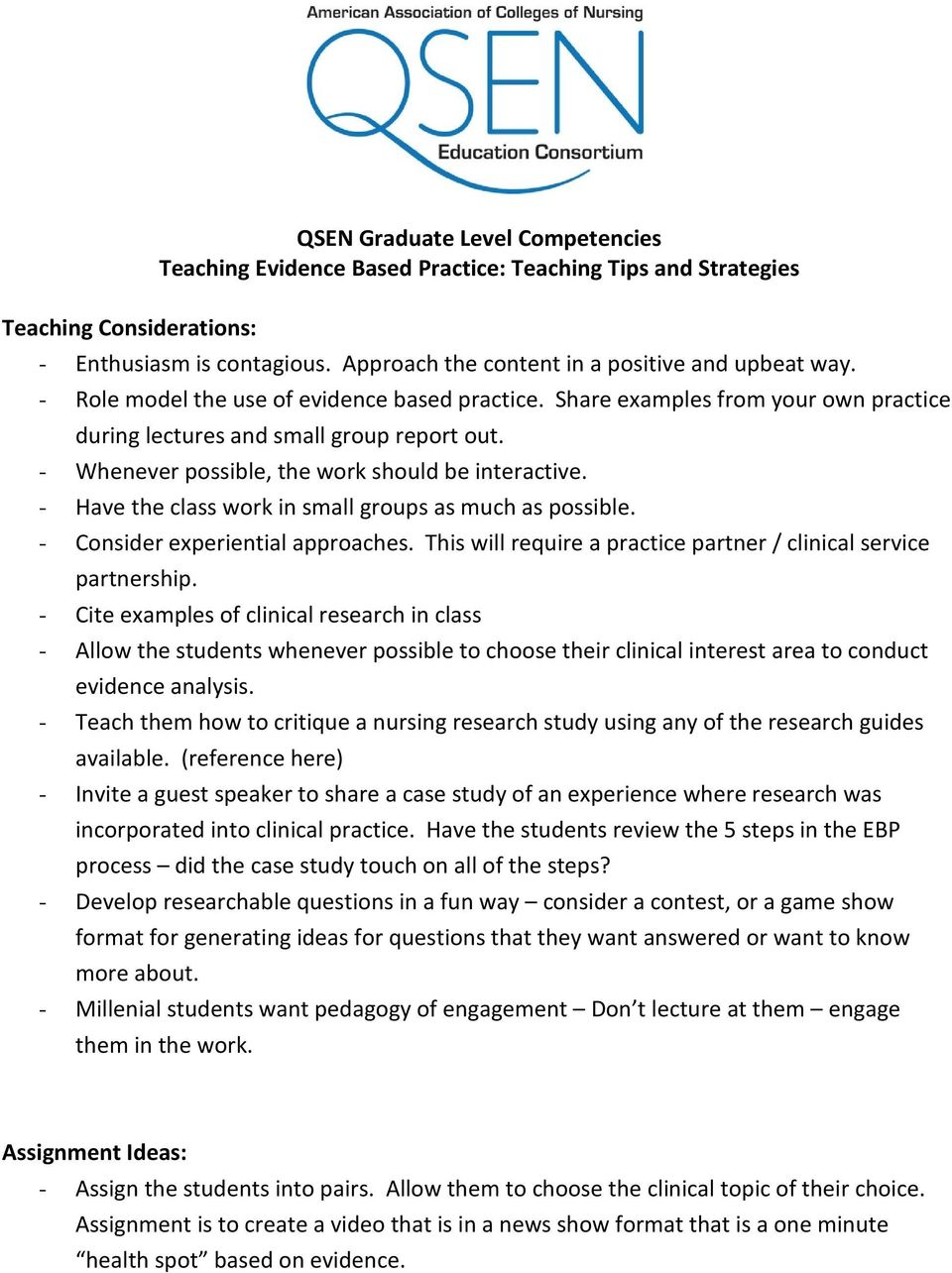 QSEN Evidence-Based Practice Competency - PDF