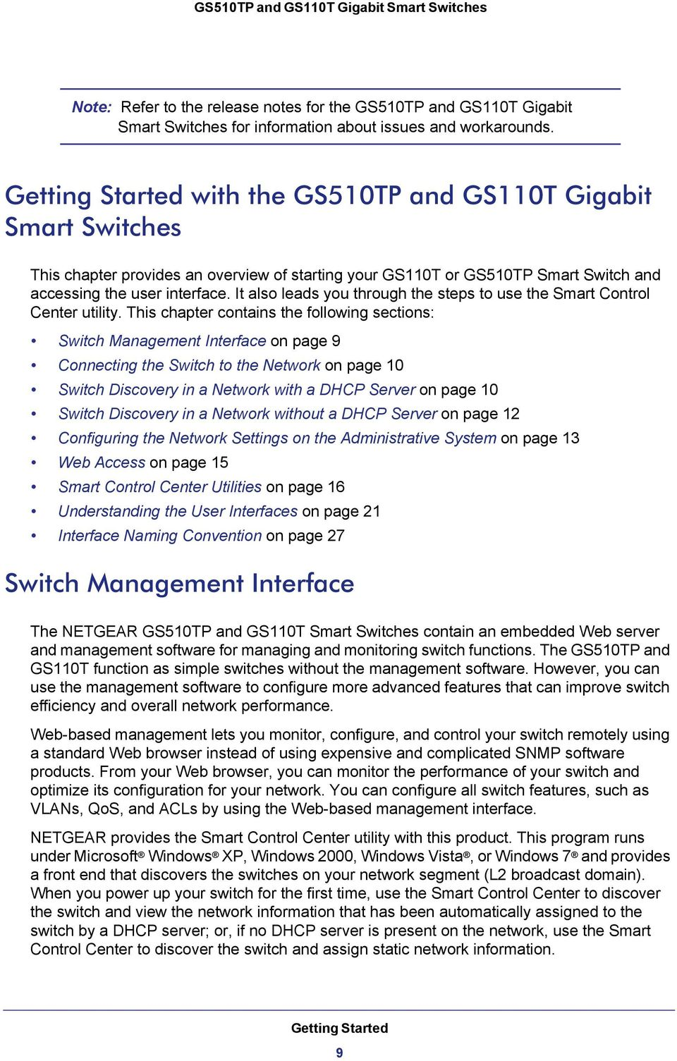 GS510TP and GS110T Gigabit Smart Switches - PDF