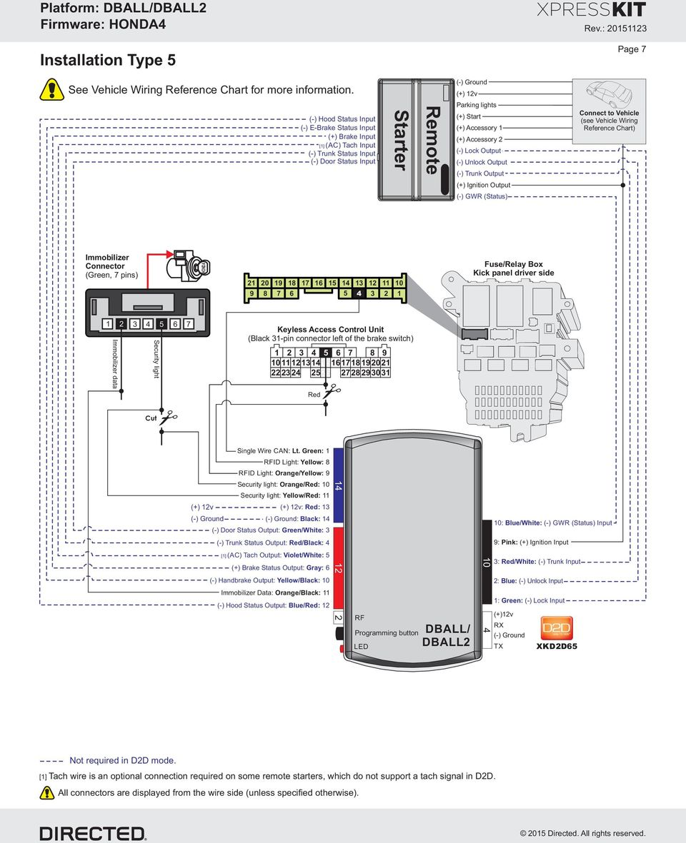 Vehicle Application Guide Installation Type 1 2 3 6 Pin Way Relay Wiring Diagram Accessory Lock Output Unlock Trunk