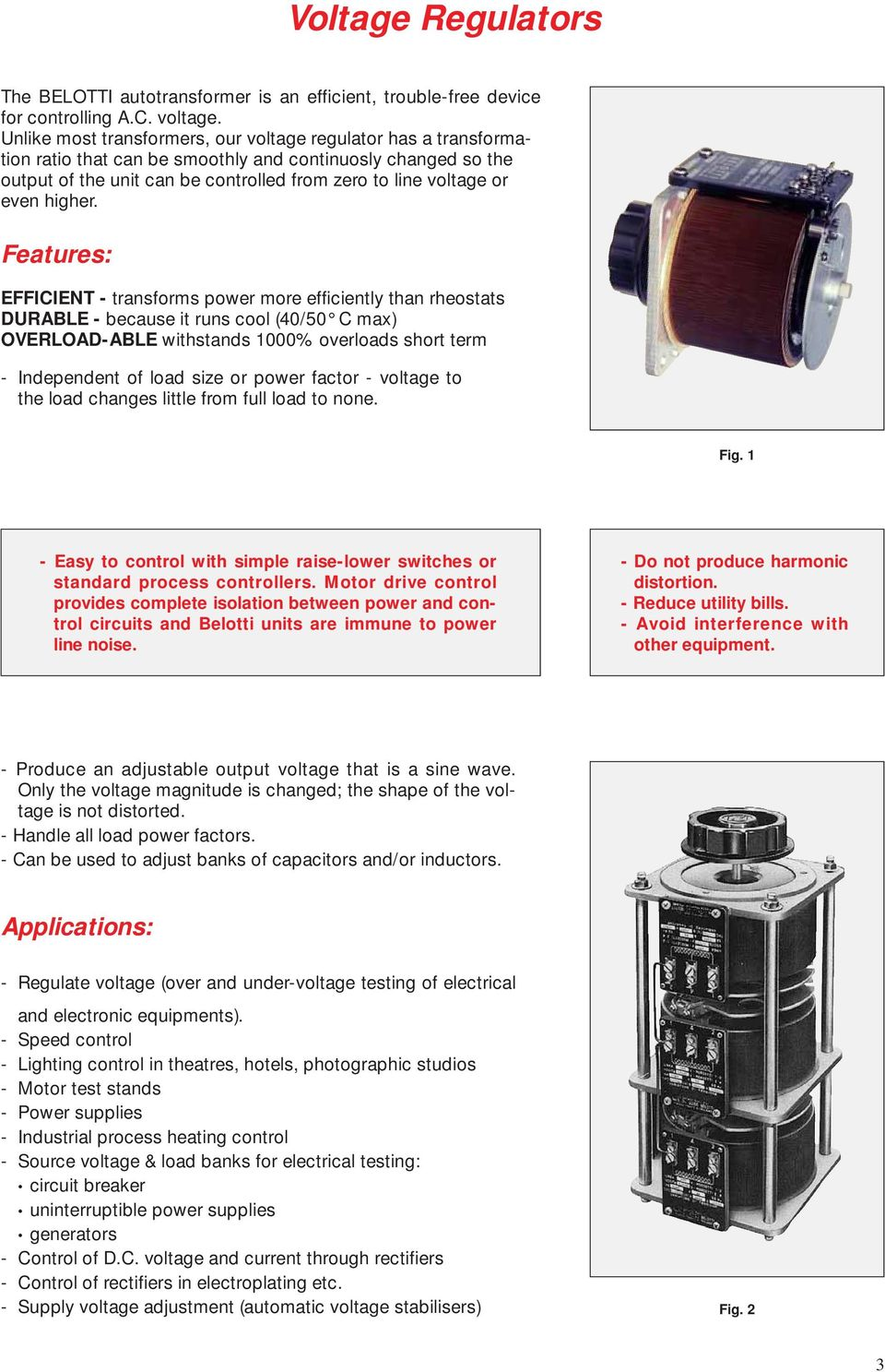 Leader In Voltage Regulators Since Pdf Power Supplies And For Lowvoltages Heaters Higher
