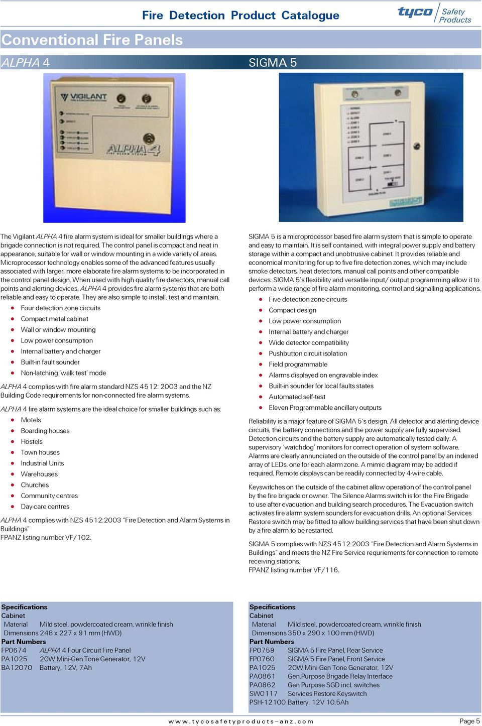Tyco Safety Products Fire Detection New Zealand Product Catalogue System Ebl128 Panasonic Electric Works Europe Ag Microprocessor Technology Enables Some Of The Advanced Features Usually Associated With Larger More Elaborate