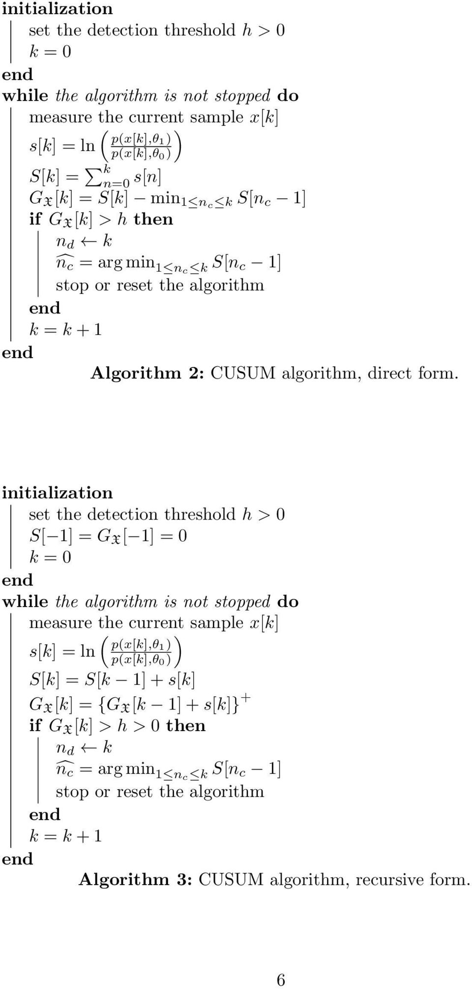 The CUSUM algorithm a small review  Pierre Granjon - PDF