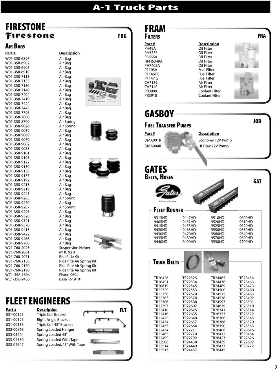 A 1 Truck Parts Speciality Book Index Pdf Kubota Fuel Filter Mount W01 358 9158 9177 9192