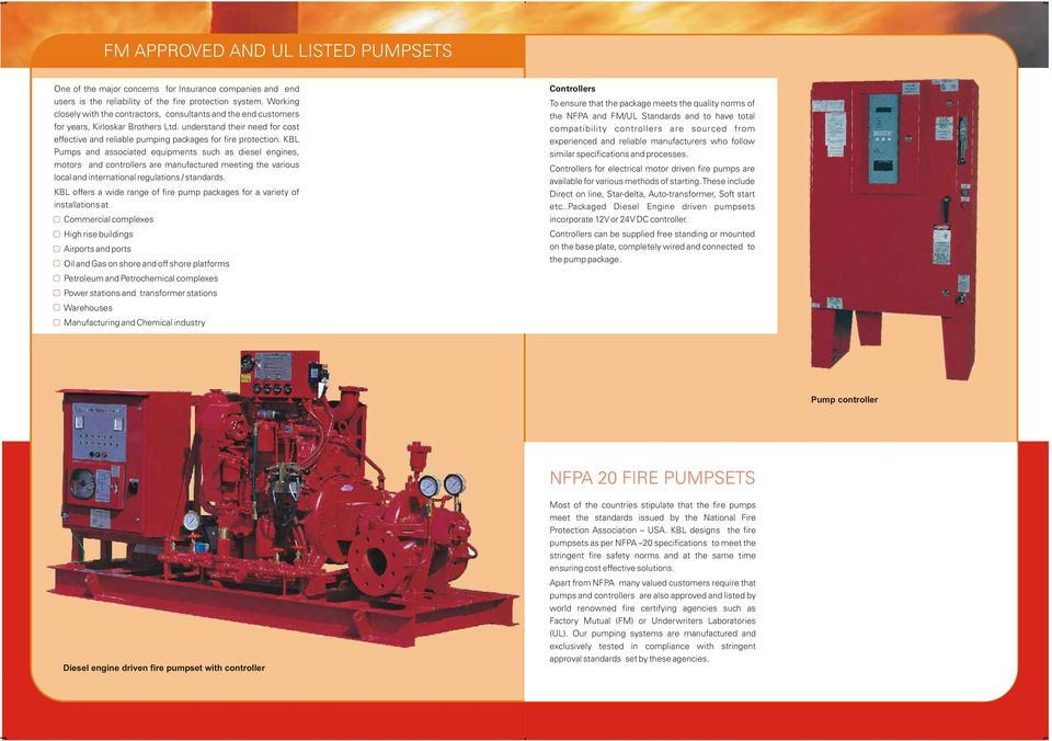 KIRLOSKAR FIRE FIGHTING PUMPS AND PACKAGES PDF