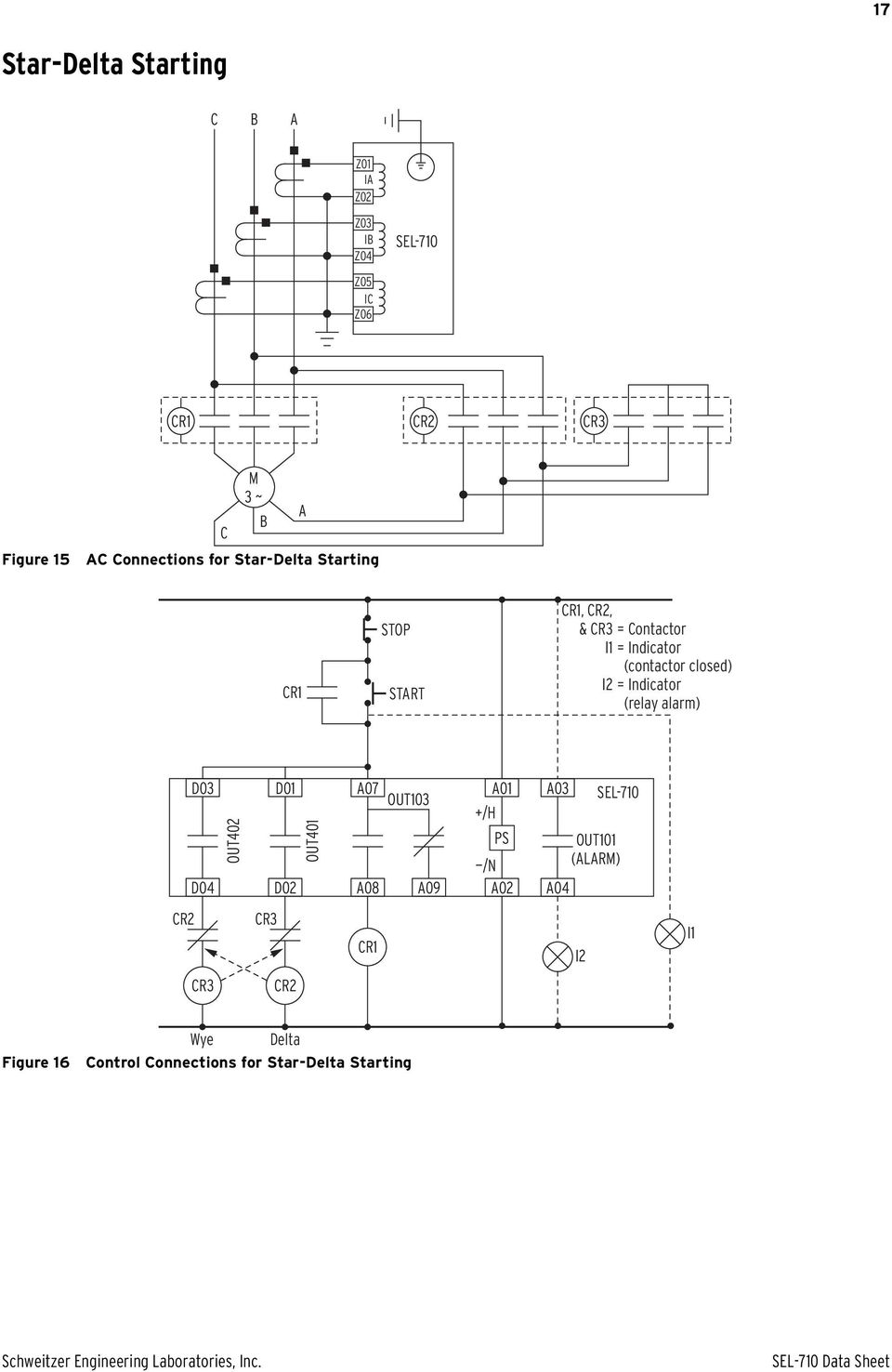 Sel 710 Motor Protection Relay Pdf Basic Concept Of Contactor Closed Indicator Alarm D03 D04 Out402 D01 D02 Out401