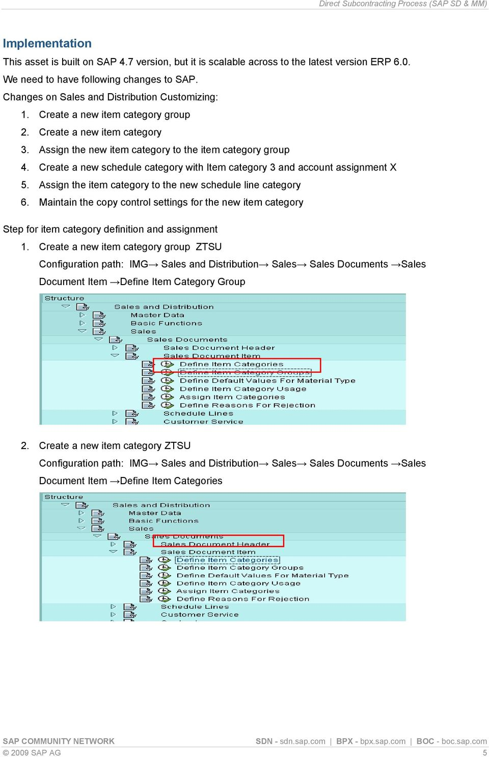 Direct Subcontracting Process (SAP SD & MM) - PDF