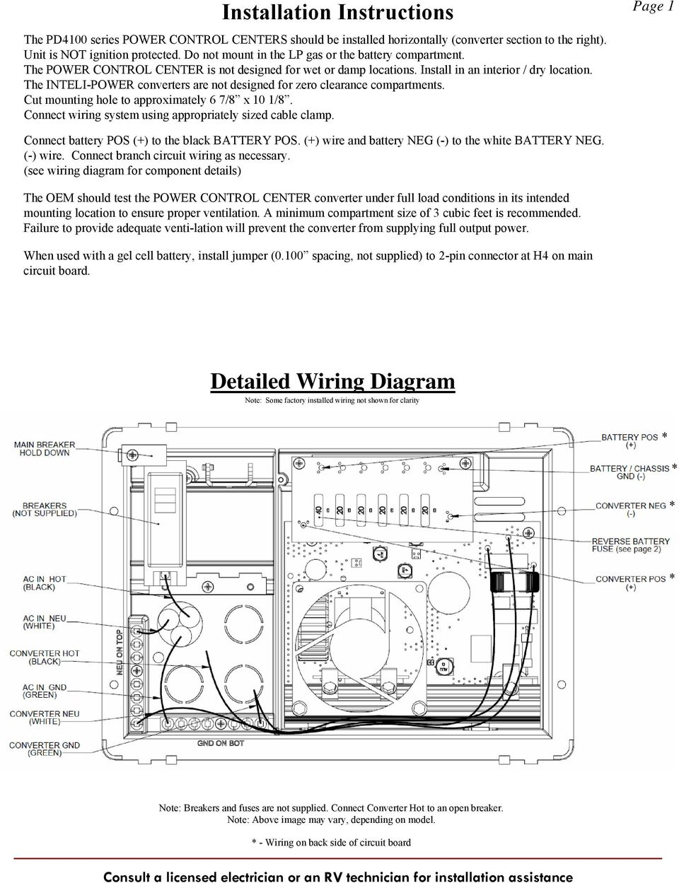 Wfco Amp Wiring Diagram on