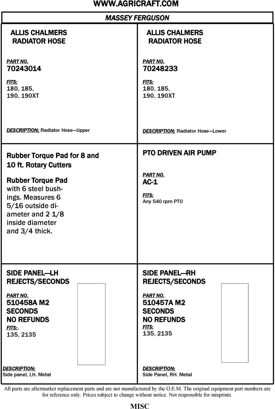 PARTS SECTION  Section MF4 - PDF