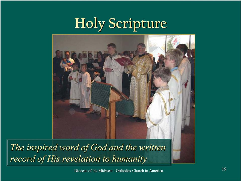 revelation to humanity Diocese of