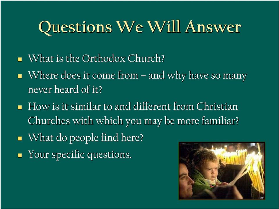 How is it similar to and different from Christian Churches with