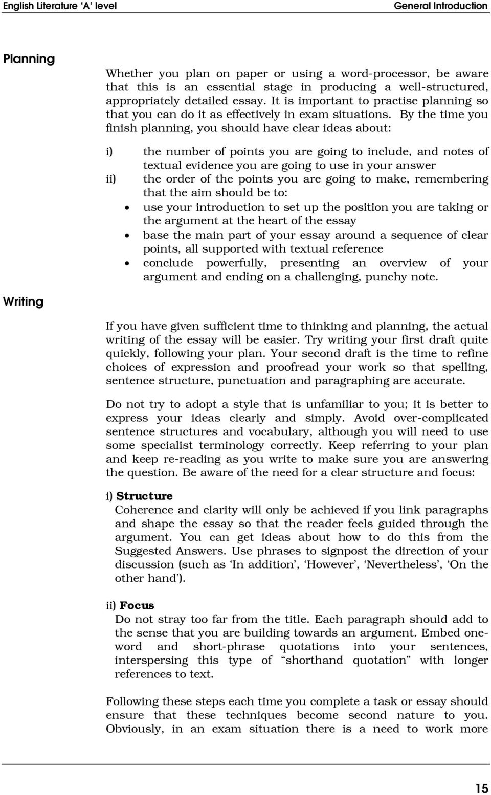introduction welcome to your a level english literature course the