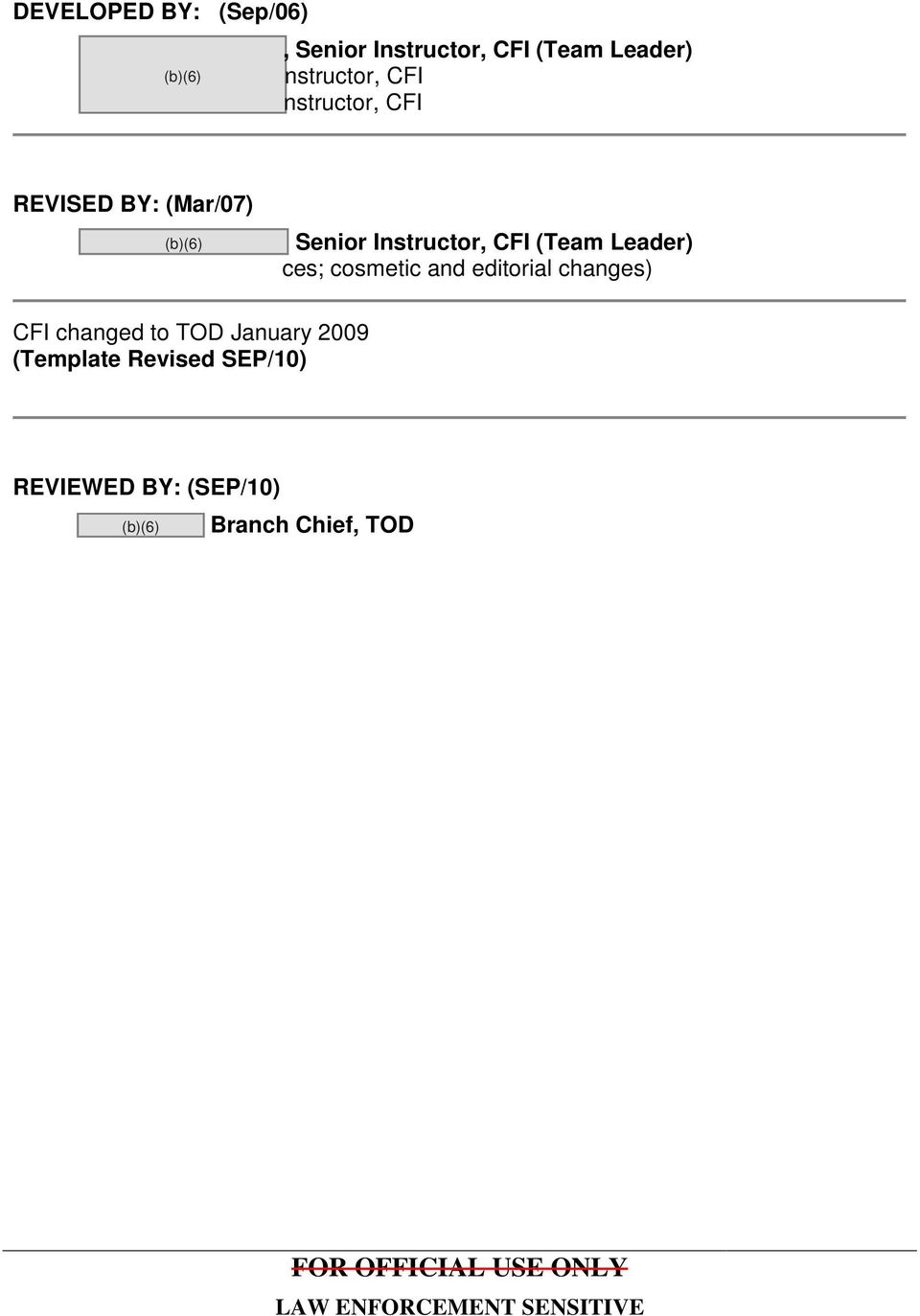 TECHNICAL OPERATIONS DIVISION LESSON PLAN - PDF