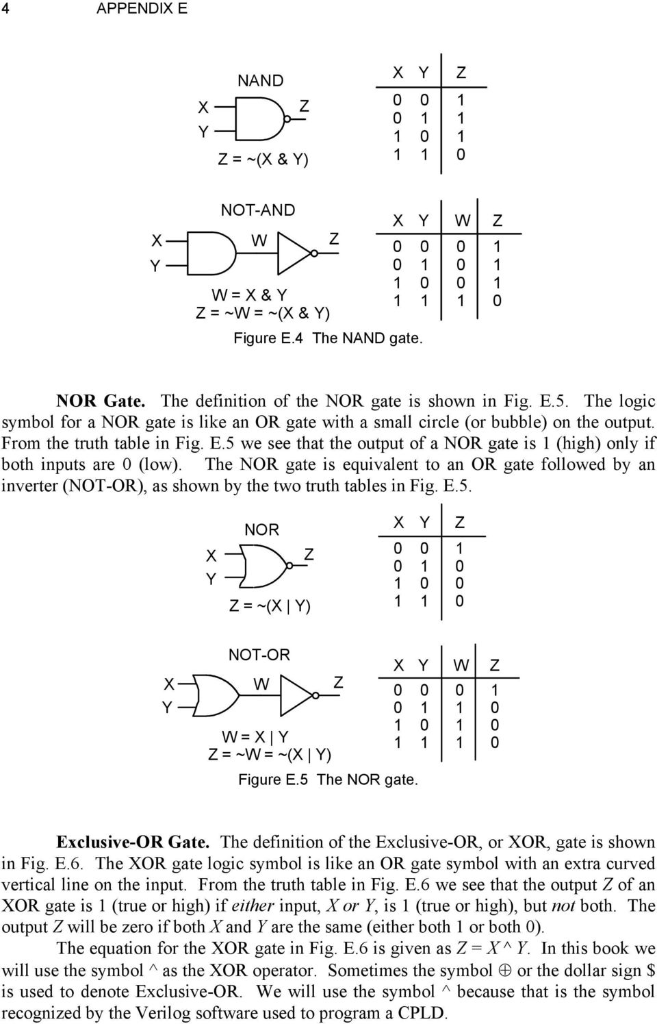 Basic Logic Gates Richard E Haskell Pdf Wiring X Y W 5 We See That The Output Of A Nor Gate Is 1 High Only