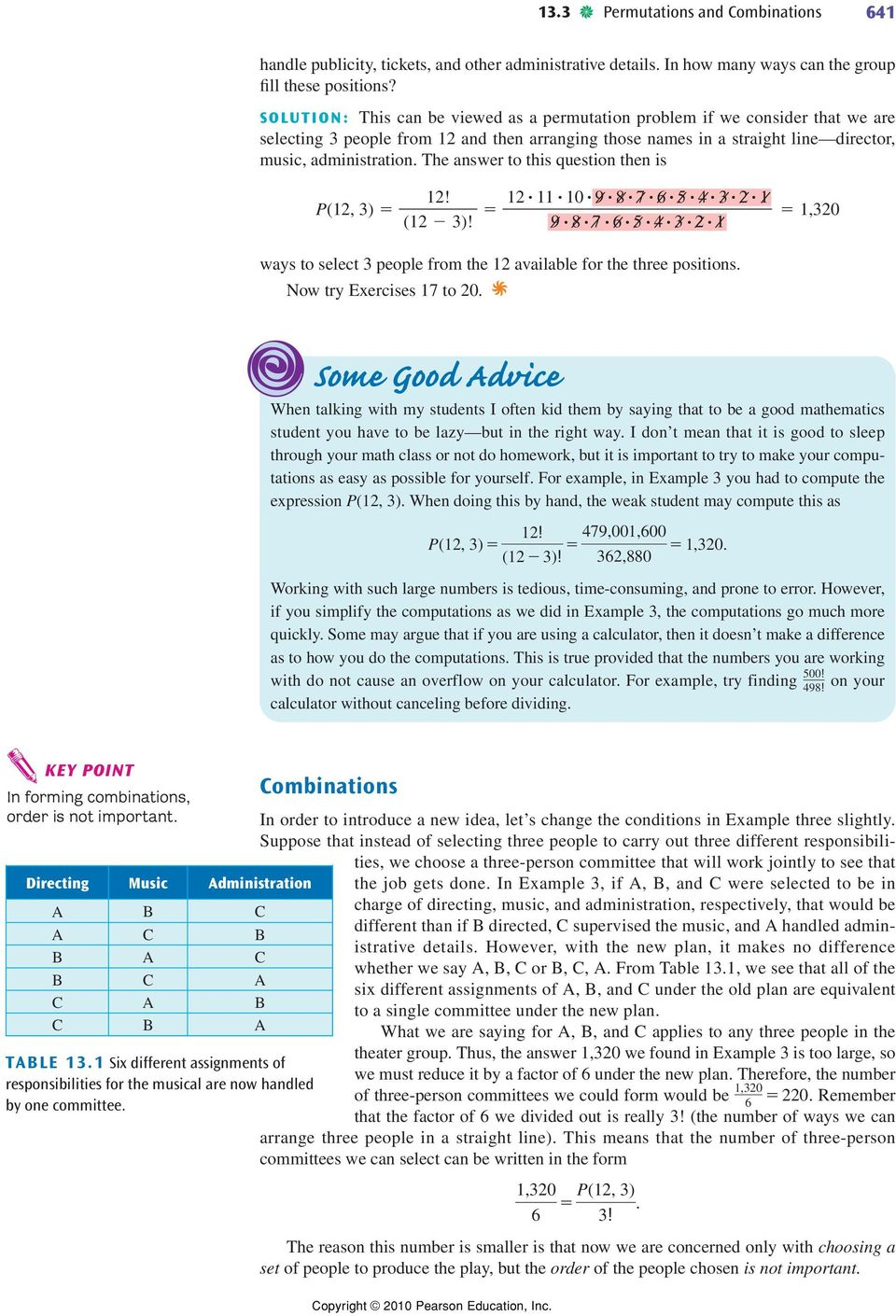 13.3. Permutations and Combinations Objectives. Permutations - PDF