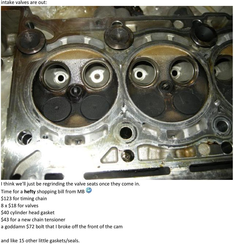 After Reading A Couple Of Threads With Regards To Timing Chain The Belt And Front Oil Seal On Time For Hefty Shopping Bill From Mb 123 8 X 18