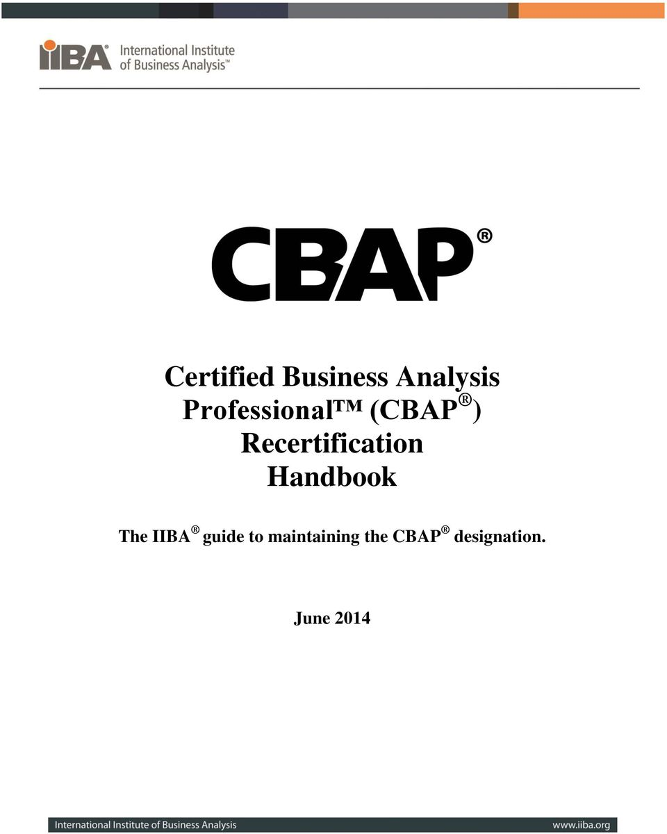 Certified Business Analysis Professional Cbap Recertification