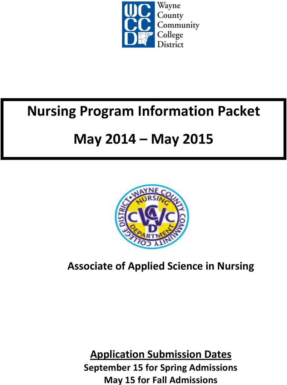 Nursing Application Submission Dates
