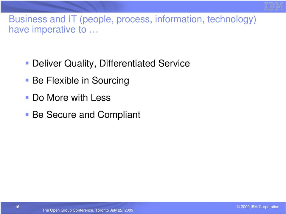 Quality, Differentiated Service Be Flexible in